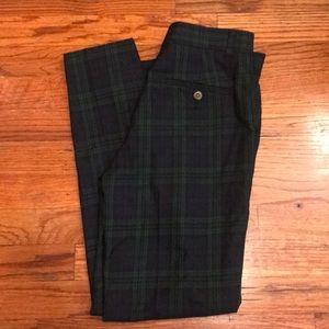 Tommy Hilfiger green/navy plaid pants